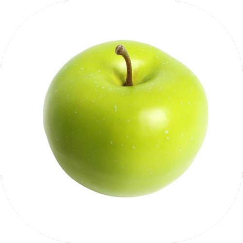Artificial Green Apple x 2